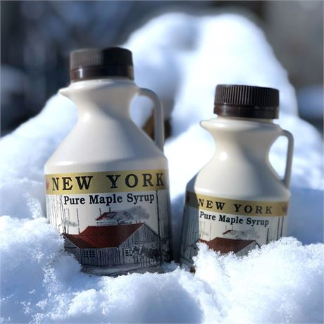 100% Pure New York Maple Syrup Grade A - 1 Pint - 16 oz. NY Jug