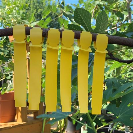 100 Yellow Vinyl Wrap-Around Nursery Plant Tree Tags Hanging Labels